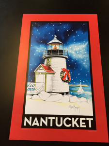 NANTUCKET 11x17 poster red